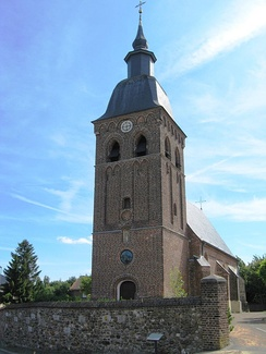A church in Houthalen. A typical church, similar to those in many villages in Flanders