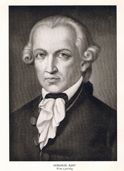 Engraving of Immanuel Kant