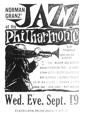 Jazz at the Philharmonic announcement, 1956