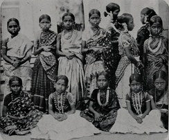 Young pupils of the Karaikal School (Archival photograph 1905)