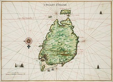 Map of São Tomé by Johannes Vingboons (1665).