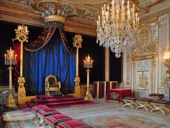 Napoleon's throne room at Fontainebleau