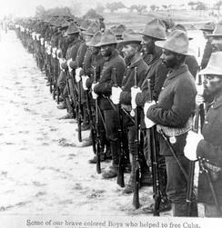 Buffalo Soldiers who participated in the Spanish–American War