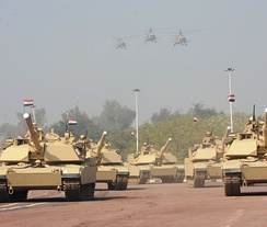 M1 Abrams tanks in Iraqi service, January 2011