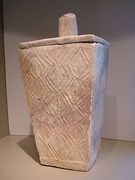 Limestone burial urn from Cotabato, Philippines, dated approximately 600 CE
