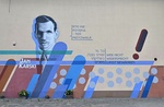 Mural against indifference to evil in Warsaw, Poland