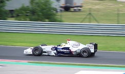 Nick Heidfeld took BMW's first podium finish at the 2006 Hungarian Grand Prix.