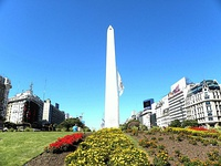 View of 9 de Julio Avenue with the Obelisk