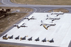 P-3 aircraft of the Royal New Zealand Air Force, Royal Australian Air Force, and the United States Navy (with RAAF Dassault Mirage III)