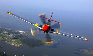 North American P-51 Mustang, a World War II fighter aircraft