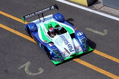 Franck Montagny driving the Pescarolo C60 during practice for the 2006 24 Hours of Le Mans.