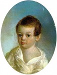 Portrait of Pushkin 1800–1802 by Xavier de Maistre