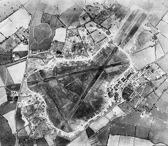 Aerial photograph of RAF Exeter, 20 March 1944.