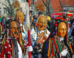 Masks of Fastnacht in Rottweil 2007