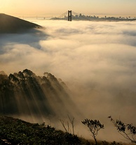 Fog is a regular feature of San Francisco summers.