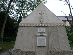 Sir Richard Burton's tomb at St Mary Magdalen's Roman Catholic Church cemetery