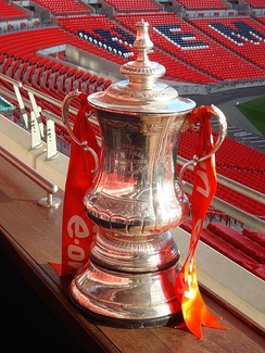 The FA Cup trophy used from 1992 to 2013