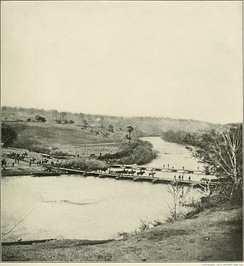 Troops crossing the Rapidan at Germanna Ford
