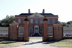 Reconstructed royal governor's mansion Tryon Palace in New Bern