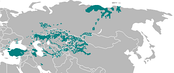 Turkic languages, including also North Siberian Yakuts (but Dolgans are omitted), South Siberian areas, and also Central Asia
