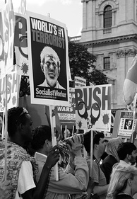 Anti-war demonstration against a visit by George W. Bush to London in 2008