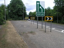 Unfinished junction 7 at Hooley