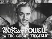 William Powell as Ziegfeld