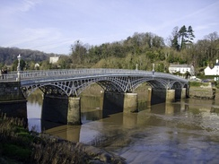 The 1816 cast iron Wye bridge