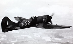A Bristol Centaurus powered Tempest in flight