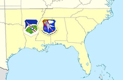 23rd Air Division/Southeast Air Defense Sector AOR, 1979-1987