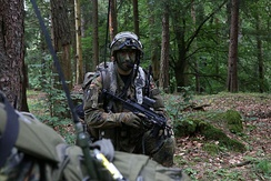 A German Bundeswehr soldier of 4th Paratrooper Company, 31st Paratrooper Regiment in 2016