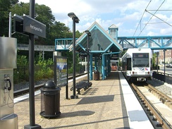 The Port Imperial stop on the Hudson-Bergen Light Rail.