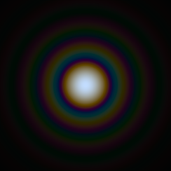 Computer generated image simulating an Airy Disk