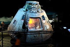 Apollo 17 command module, on display at Space Center Houston