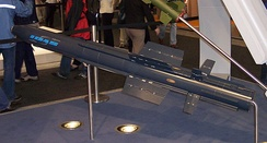Model of the multirole IDAS missile of the German Navy, which can be fired from submerged anti-aircraft weapon systems
