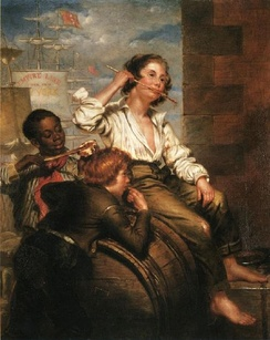 Boys Pilfering Molasses, 1853 painting by George Henry Hall