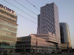 High-rise buildings in Bratislava's business districts