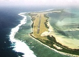 Aerial view of Cocos (Keeling) Islands Airport (ICAO code: YPCC).