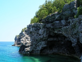 "The ""Grotto"" at the Bruce Peninsula National Park."