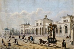 The Frankfurt terminus of the Taunus railroad, financed by the Rothschilds. Opened in 1840, it was one of Germany's first railroads.