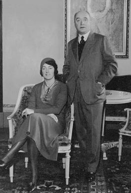 Bergius with wife in Stockholm in 1931