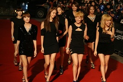 Girls' Generation attending the 2010 Golden Disk Awards