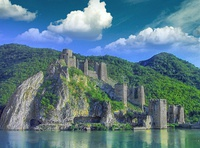 Golubac Fortress in Đerdap National park, Serbia.