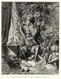 Gustave Doré's first (of about 370) illustrations for Don Quixote
