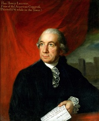Henry Laurens was President of the Continental Congress when the Articles were passed on November 15, 1777.