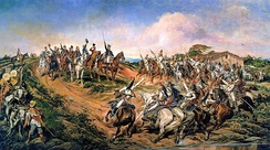 The proclamation of the Independence of Brazil by Prince Pedro on 7 September 1822
