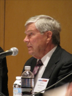 McPherson speaking at the American Historical Association annual meeting in January 2014.