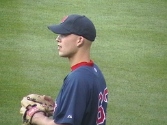 Masterson during his first tenure with the Boston Red Sox in 2008.