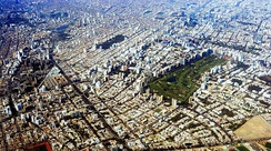 San Isidro, Lima from above.