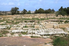 Remains of a Byzantine monastery at Tas-Silġ, which was built on the site of earlier megalithic and Punic-Roman temples